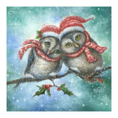 Owl I Want for Christmas is You! Prints by Vickie Wade
