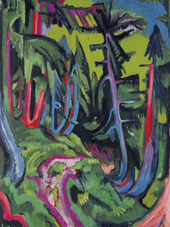 Path in Forest in the Mountains Giclee Print by Ernst Ludwig Kirchner