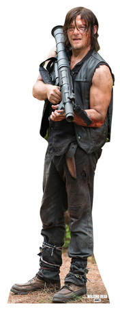 Daryl Dixon with Rocket Launcher - The Walking Dead Cardboard Cutouts