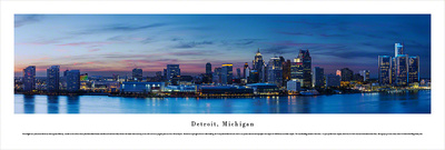 Detroit, MI 5 (Night) Print by James Blakeway