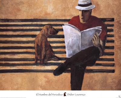 El Hombre del Periodico Posters by Didier Lourenco
