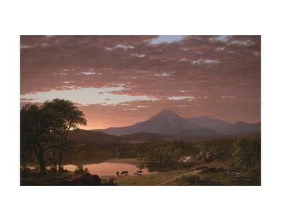Mt. Ktaadn, 1853 Art by Frederick Edwin Church