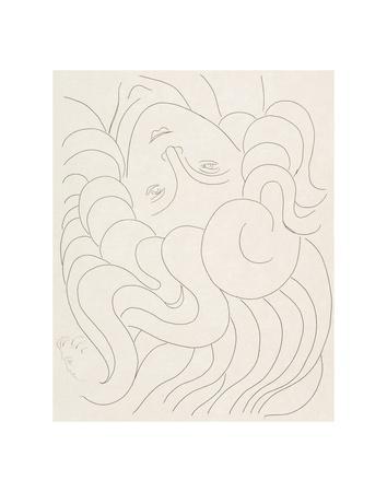 Female Head, 1930-32 Print by Henri Matisse