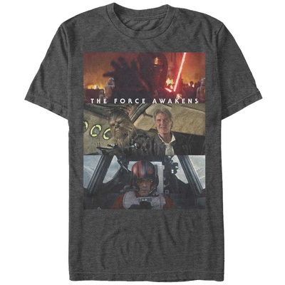Star Wars: The Force Awakens- Character Panels T-Shirt