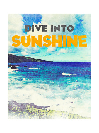 Sunshine and Waves I Posters by Bruce Nawrocke
