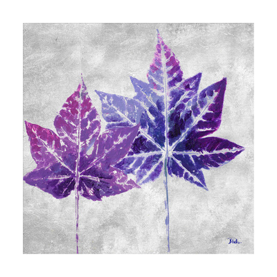 The Purple Leaves on Silver II Prints by Patricia Pinto