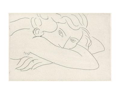 Young Woman with Face Buried in Arms, 1929 Kunsttryk