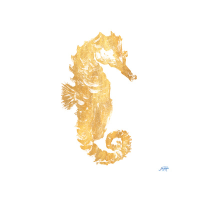 Gold Square Seahorse I Posters by Julie DeRice