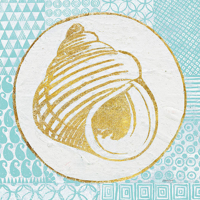 Summer Shells III Teal and Gold Prints by Kathrine Lovell