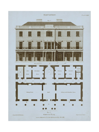 Chambray House & Plan II Posters by Thomas Kelly