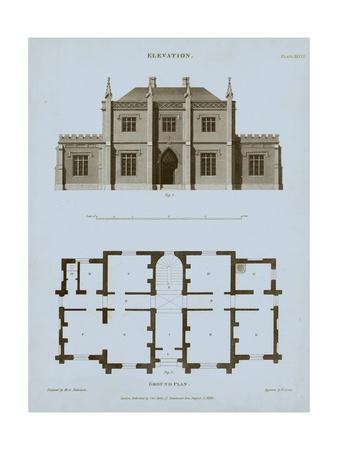 Chambray House & Plan V Art by Thomas Kelly