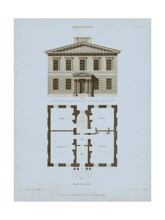 Chambray House & Plan IV Posters by Thomas Kelly