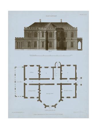 Chambray House & Plan III Prints by Thomas Kelly