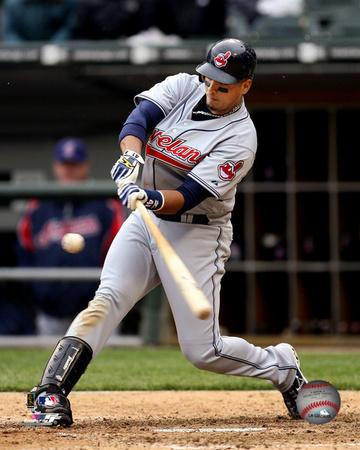 Victor Martinez - 2007 Batting Action Photo