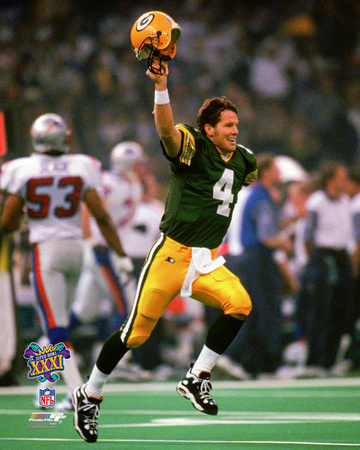 Brett Favre Super Bowl XXXI Action Photo