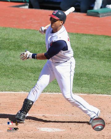 Victor Martinez - 2006 Batting Action Photo