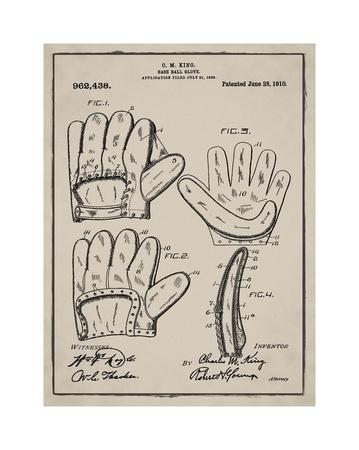 Baseball Glove, 1909 Giclee Print by Bill Cannon