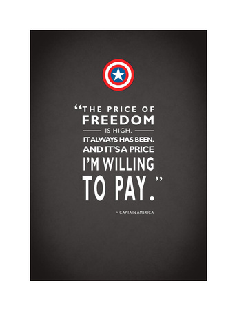 Capt America Quote Giclee Print by Mark Rogan