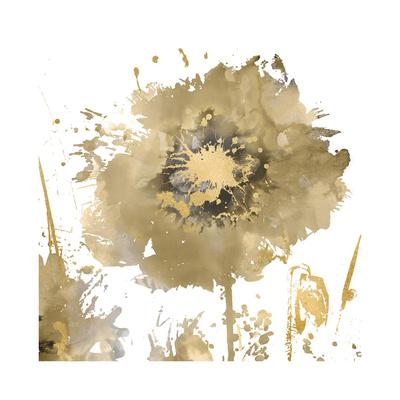 Flower Burst in Gold I Giclee Print by Vanessa Austin