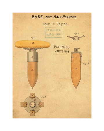 Base for Ball Player, 1868-Ant Giclee Print by Bill Cannon