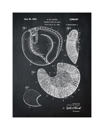 Baseball Mitt, 1941-Chalk Boar Giclee Print by Bill Cannon