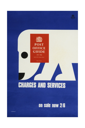 The 'Post Office Guide July 1968', Charges and Services, on Sale Now 2'6 Prints by Tom Eckersley