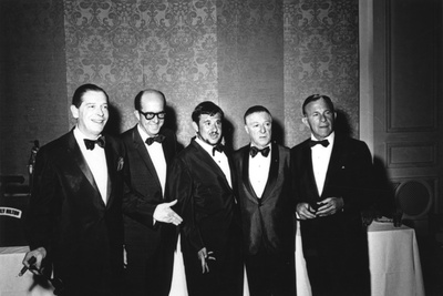 Milton Berle, Phil Silvers, Buddy Hackett, George Jessel and George Burns Foto af  Capital Art