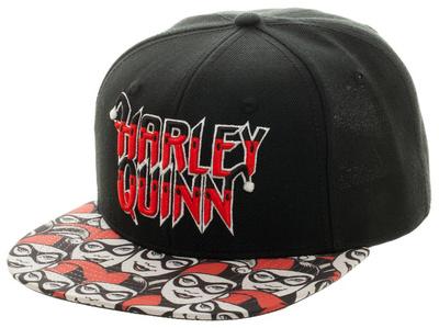 Harley Quinn- Cutey Bill Logo Snapback Hat