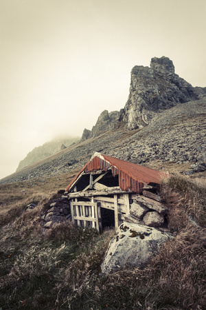 Abandoned Shelter Near Stokkness, Iceland, September 2015 Photographic Print by Niall Benvie