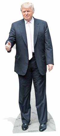 Donald Trump - Pink Tie Stand Figürler