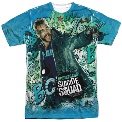 Suicide Squad- Boomerang Psychedelic Graffiti T-shirts