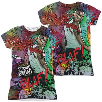 Juniors: Suicide Squad- Diablo Psychedelic Graffiti (Front/Back) T-shirts