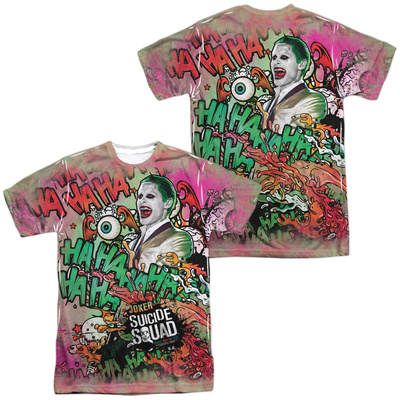 Suicide Squad- Joker Psychedelic Graffiti (Front/Back) T-Shirt