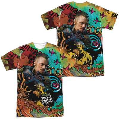 Suicide Squad- Rick Flag Psychedelic Graffiti (Front/Back) T-shirts