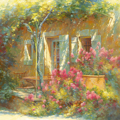Bouquet de Valérianes Giclee Print by Johan Messely