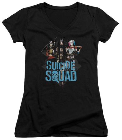 Juniors: Suicide Squad- Femme Fatales V-Neck T-Shirt