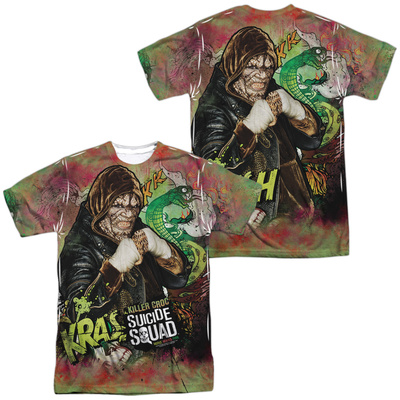 Suicide Squad- Killer Croc Psychedelic Graffitti (Front/Back) T-shirts