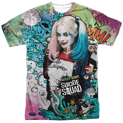 Suicide Squad- Harley Psychedelic Graffiti Sublimated