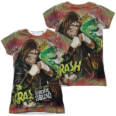 Juniors: Suicide Squad- Killer Croc Psychedelic Graffitti (Front/Back) T-shirts