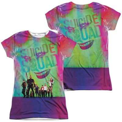 Juniors: Suicide Squad- Line Up (Front/Back) T-shirts