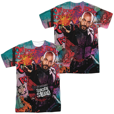 Suicide Squad- Deadshot Psychedelic Graffiti (Front/Back) T-Shirt