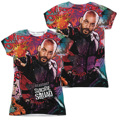 Juniors: Suicide Squad- Deadshot Psychedelic Graffiti (Front/Back) T-shirts