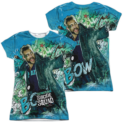 Juniors: Suicide Squad- Boomerang Psychedelic Graffiti (Front/Back) T-Shirt