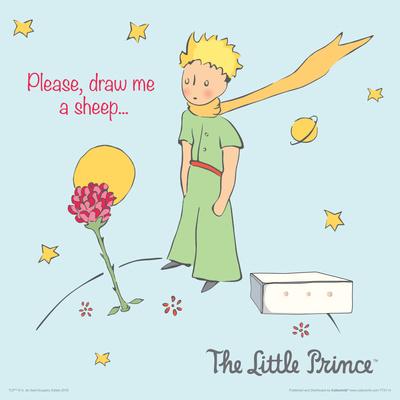 Little Prince- Please Draw Me A Sheep Print