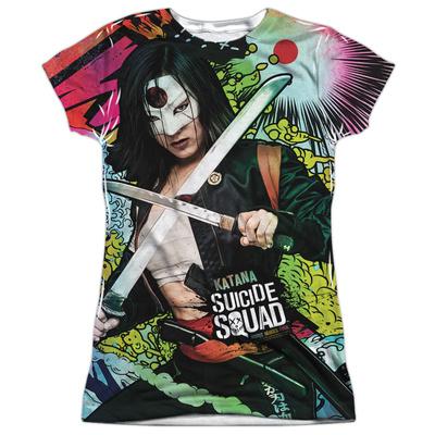 Juniors: Suicide Squad- Katana Psychedelic Graffiti Shirt