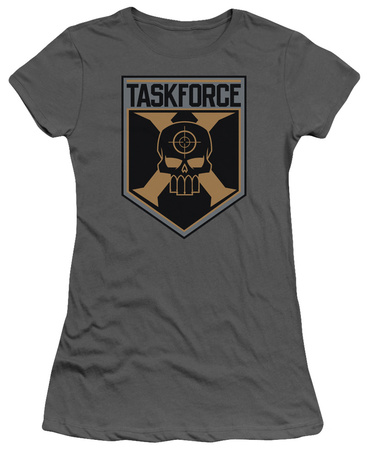 Juniors: Suicide Squad- Taskforce X Shield Shirts!