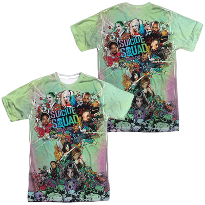 Suicide Squad- Psychedelic Graffiti Cloud (Front/Back) Shirts