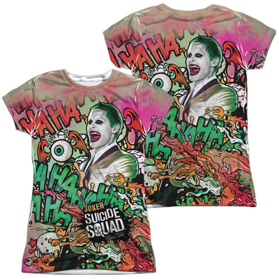 Juniors: Suicide Squad- Joker Psychedelic Graffiti (Front/Back) T-shirts