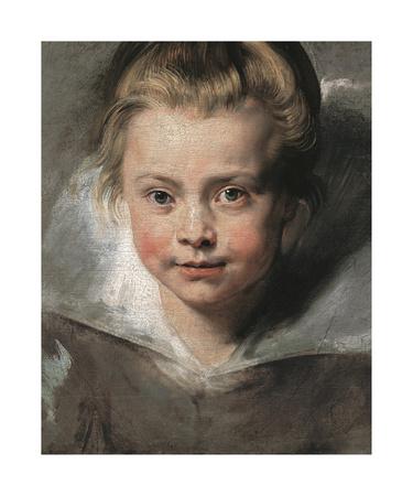 Portrait Of Clara Serena Rubens, c.1616 Premium Giclee Print by Sir Peter Paul Rubens