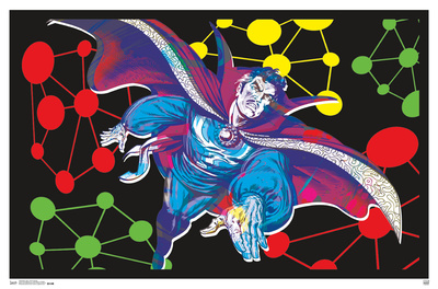 Doctor Strange- Flight Through The Unknown Black Light Poster Print